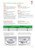 Datasheet for installation and maintenance of ball slewing bearings